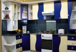 Кухни недорого Воронеж синие
