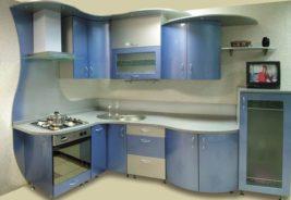Синие кухни недорого Воронеж