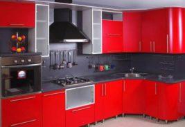 Кухни недорого красные Воронеж