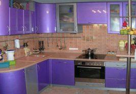 Фиолетовые кухни недорого Воронеж