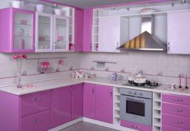 Фиолетовый цвет кухни недорого Воронеж