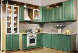 зеленая классика - дизайн кухни воронеж