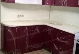 Фиолетовый - белый - кухни на заказ Воронеж