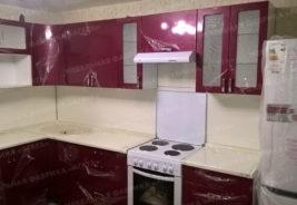 Кухни на заказ Воронеж - Фиолетовый - белый