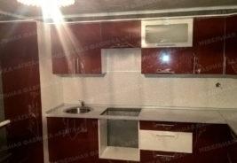 Кухни на заказ Воронеж - красный темный