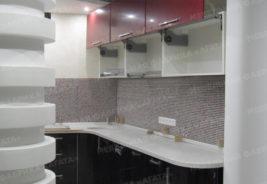 Кухни на заказ Воронеж - красный, черный, белый