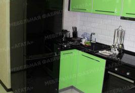 кухни на заказ Воронеж - черный, зеленый