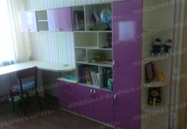Фиолетовая корпусная мебель на заказ Воронеж