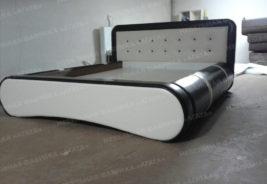 Кровать, белый, черный, корпусная мебель на заказ Воронеж