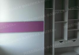 шкафы-купе на заказ - розовая полоса
