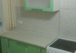кухни из натурального массива мебель в рассрочку - зеленый белый