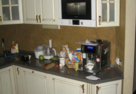 кухни по индивидуальному заказу на заказ Воронеж, белый, черный