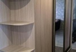 Шкафы-купе на заказ Воронеж - белый с зеркалом