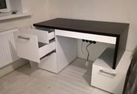 Корпусная мебель на заказ Воронеж - черный и белый