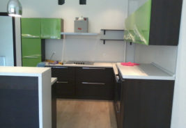 зеленая черная классика - дизайн кухни воронеж