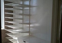 Корпусная мебель на заказ - белые полки