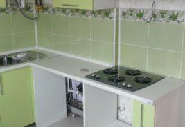 Кухни на заказ Воронеж, салатовый